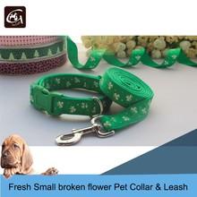 Fresh Small Broken Flower Pattern Pet Collar & Lead
