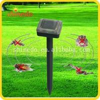 Multifunctional ultrasonic tick housefly solar repeller