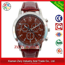 R0315 hot products!! high quality !! wholesale leather name brand wrist watch