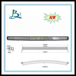 "Curved 50"" 288w Light bar LED spot flood combo beam off road 4x4"