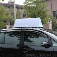 Universal car roof advertising usage led taxi top advertising