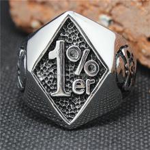 316L Stainless steel Cool Golden Mens 1% Biker Ring