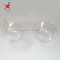 Clear Small Hollow Glass Ball for Christmas Ornament