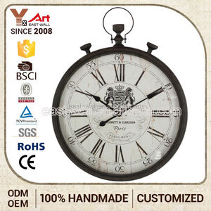 Хорошее качество логотип искусства ремесло кварцевые настенные часы