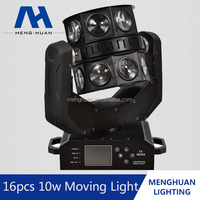 New product 16pcs 4in1 Double Flying led moving head wash light copy robe robin 600