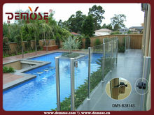 tempered swimming glass pool fence/barricades spigot
