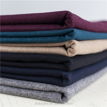 Melton Recycled Wool/Poly Blended Wool Fabric for coats with different colour