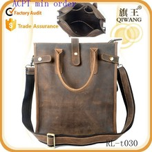 Men Retro Genuine Leather Handbag Tote New Fashion Shoulder Crossbody Bags