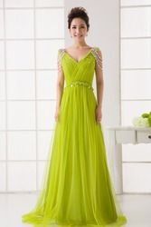 RR2978 Big Size Emerald Green In Evening Dress Photos