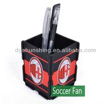 AC Milan Fans supplies football souvenir silicone rubber pen holder for desk soccer fan pen holder