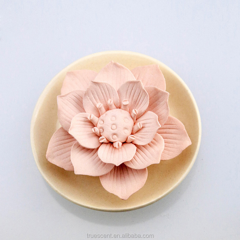 Colored lotus flower shape hand made home car fragrance scented ts cfd103 2g izmirmasajfo