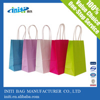 wholesale market pesonalized paper gift bags thin packaging