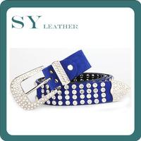 New Spring Summer Design Genuine Leather Western Women Rhinestone Belt, Gorgeous All Crystal Suede Encrusted Ladies Belt