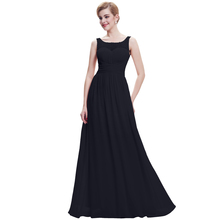 Starzz 2015 Sleeveless V-Back Chiffon Black Evening Prom Party Dress ST000061-1