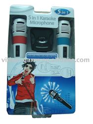 5 In 1 Karaoke Microphone Compatible with Wii,Xbox360,PS3,PS3 & PC