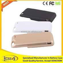 7000mAh external powerful battery cover for iphone 6, power bank for for iphone 6 battery case