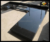 Straight edge absolute black granite counter tops