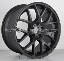 Alloy wheel with matt black, wheel rims 19 inch , alloy wheels for cars china wholesale