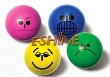 Multi-color Printin Hollow Rubber High Bounce Ball