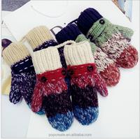 Hand made knitting gloves