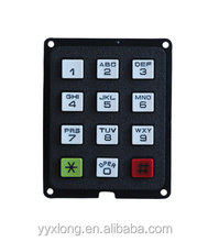 Convenient plastic keypad with long life expectancy