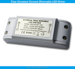 Customized 12W dimmable led power driver 350ma constant current TRIAC dimmable led driver