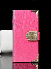 Luxury bling diamond wallet leather for iphone 6 case flip