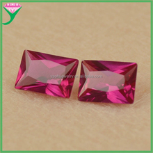 wholesale rectangle cut artificial corundum ruby manufacturer of synthetic diamond