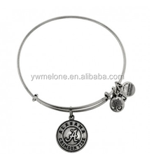 Hot New Products For 2015 University Of Alabama Logo Pendant Bangle, Alex And Ani Antique Silver Bangle Bracelets