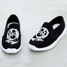 Slip On Doodle Print Women Sneakers On Platform Shoes Flat Heel Sport Shoes Female