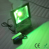 Hot selling brightness outdoor rgb led flood light 100 watt with remote controller