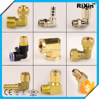 RX-1185 30 45 60 90 120 degree carbon steel and brass pipe elbow pipe fitting copper mini elbow and cross