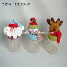muñeca de navidad candy jar