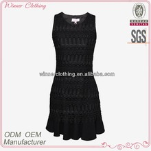 women's clothing garment apparel direct factory OEM/ODM manufacturing bodycon slim fit black open back short dress