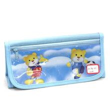 wholesale custom popular cute cartoon clear plastic pvc printing school pencil case