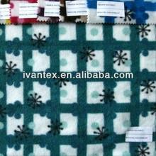 calificado de la moda de tejer tela de forro polar con copo de nieve de la imagen