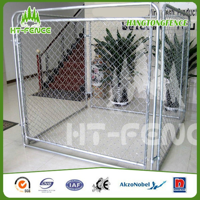 Made in China powder coated iron fence dog kennel