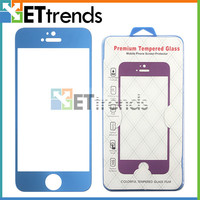 Hot selling mobile accessory for iphone 5 colorful tempered glass screen protector