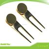 Plain Gold Color Golf Divot Tool/Pitch Fork/Divot Repair