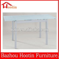 hot sale retractable high quality glass dining table
