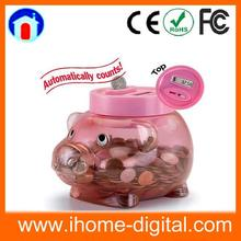 2014 Hot Selling electronic piggy bank digital piggy bank