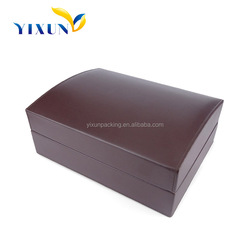 Professional manufacture producing high quality luxury pu leather covered wooden watch box
