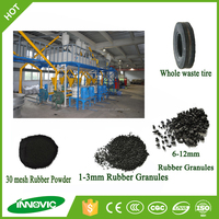 Tire recycling crumb rubber/tire recycling plant crumb