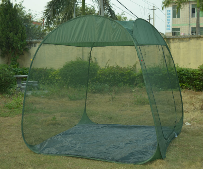 Green Color Pop Up Screen Room Large Mosquito Net Tent