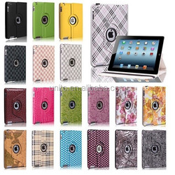 Many styles Rotating Leather Case for ipad 2 3 4 5 mini retina Wholesale Lede advantage case