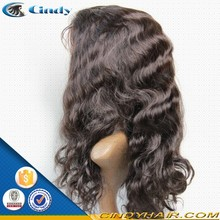 best selling cheap 100% virgin remy human full lace indian mens fashion long hair wigs