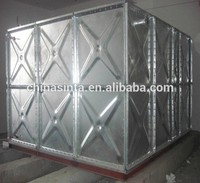 Pressed steel panel type water storage tank, steel water storage tank