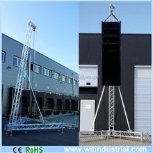5-8m outdoor pa towers Line array speaker system flying trussing support