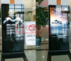New products public information 55 inch floor stand lcd ad monitor VGA, AV, S-video, HDMI Management Software