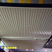 Aluminum sun shade louver control system